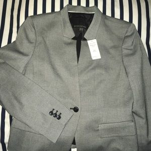 Banana Republic Micro Herringbone Suit Jacket 10P